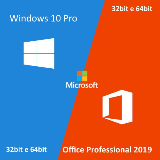 Windows 10 Pro e Office Pro 2019