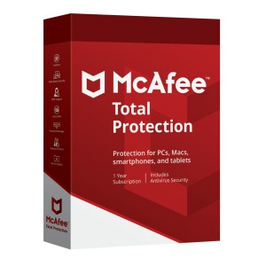 McAfee Total Protection 5 Dispositivi 1 Anno ESD